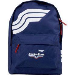 """Plecak """"Washington"""" w kolorze granatowym - 29 x 40 x 10 cm. Niebieskie plecaki męskie Walizki dla Ciebie, w paski. W wyprzedaży za 43,95 zł."""