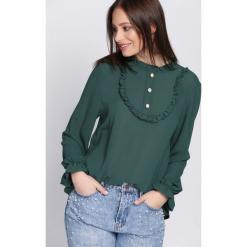 Zielona Bluzka Svelte. Zielone bluzki asymetryczne Born2be, uniwersalny, z długim rękawem. Za 69,99 zł.