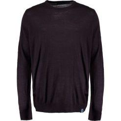 Swetry klasyczne męskie: BAD RHINO CREW REGULAR FIT Sweter plum
