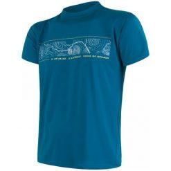 Sensor Koszulka Coolmax Fresh Pt Gps Blue Xl. Niebieskie koszulki do fitnessu męskie Sensor, m, z nadrukiem. W wyprzedaży za 120,00 zł.