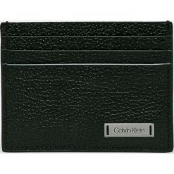 Calvin Klein - Portfel skórzany. Czarne portfele męskie marki Calvin Klein, z materiału. Za 159,90 zł.