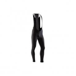 Spodnie na rower szosowy z szelkami 500 męskie. Czarne odzież rowerowa męska marki WED'ZE, m, z materiału. Za 149,99 zł.