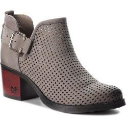 Botki CARINII - B4361 399-000-000-861. Szare buty zimowe damskie Carinii, z materiału, na obcasie. W wyprzedaży za 229,00 zł.