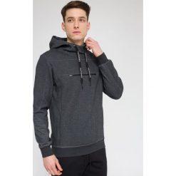 Bluzy męskie: Bluza męska BLM210 – ciemny szary melanż