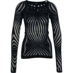 Casall YOGA OPEN STRUCTURE Koszulka sportowa black. Czarne topy sportowe damskie Casall, l, z elastanu, z długim rękawem. Za 339,00 zł.