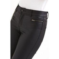 Vila VICOMMIT ZIP COATED Jeans Skinny Fit black. Czarne rurki damskie Vila. Za 199,00 zł.