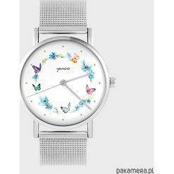 Zegarki damskie: Zegarek - Kolorowy wianek - metalowy