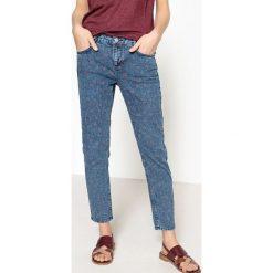 Dżinsy skinny vintage. Szare jeansy damskie marki La Redoute Collections, m, z bawełny, z kapturem. Za 176,36 zł.