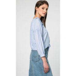 Pepe Jeans - Koszula. Szare koszule jeansowe damskie Pepe Jeans, l, z haftami, casualowe, z długim rękawem. W wyprzedaży za 179,90 zł.