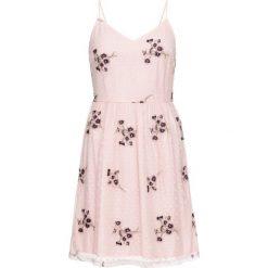 Sukienki: Sukienka z kwiatowym haftem bonprix jasnoróżowy