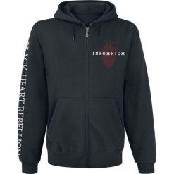 Bejsbolówki męskie: Insomnium Black Heart Rebellion Bluza z kapturem rozpinana czarny