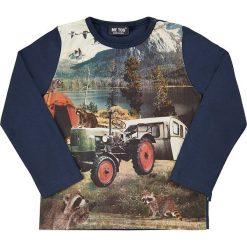 Koszulka w kolorze niebieskim. Niebieskie t-shirty chłopięce z długim rękawem MeToo. W wyprzedaży za 47,95 zł.