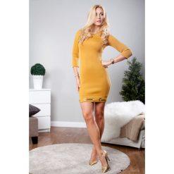 Sukienki: Sukienka mini musztardowa TA2393