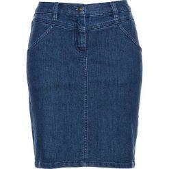 """Spódniczka dżinsowa bonprix niebieski """"stone"""". Czarne spódniczki marki KALENJI, z elastanu. Za 79,99 zł."""