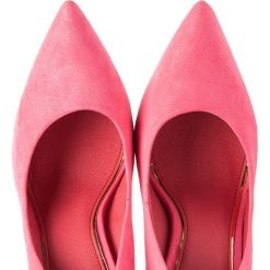 Buty ślubne damskie: Zamszowe czółenka na szpilce RAFAELA