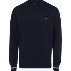 Fred Perry - Męska bluza nierozpinana, niebieski. Niebieskie bluzy męskie rozpinane Fred Perry, m, z haftami. Za 349,95 zł.