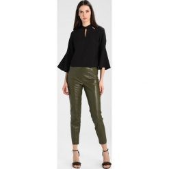 Bluzki asymetryczne: Dorothy Perkins 3/4 FLUTE Bluzka black