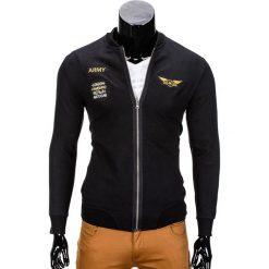 BLUZA MĘSKA ROZPINANA BEZ KAPTURA B676 - CZARNA. Czarne bluzy męskie rozpinane marki Ombre Clothing, m, bez kaptura. Za 69,00 zł.