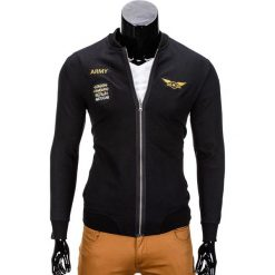 Bluzy męskie: BLUZA MĘSKA ROZPINANA BEZ KAPTURA B676 – CZARNA