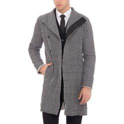 Płaszcze męskie: Płaszcz w kolorze czarno-białym
