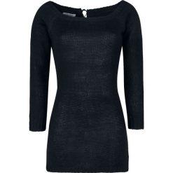 Innocent Hena Sweter damski czarny. Niebieskie swetry klasyczne damskie marki Innocent, xl, w ażurowe wzory, z materiału, z dekoltem na plecach. Za 164,90 zł.