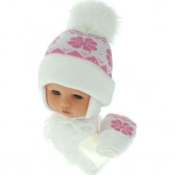 Czapka niemowlęca z szalikiem i rękawiczkami CZ+S+R 012D. Szare czapeczki niemowlęce Proman. Za 46,14 zł.