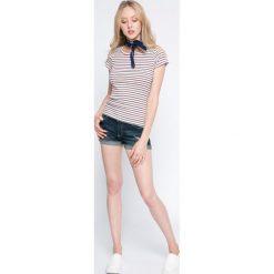 Levi's - Top. Brązowe topy sportowe damskie marki Levi's®, m, z bawełny, z okrągłym kołnierzem. W wyprzedaży za 99,90 zł.