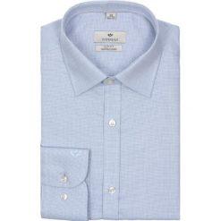 Koszule męskie na spinki: koszula winberg 2101 długi rękaw slim fit niebieski