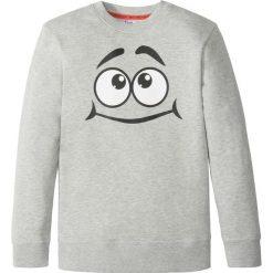 Odzież chłopięca: Bluza z modnym nadrukiem bonprix szary melanż