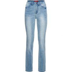 Bardzo miękkie dżinsy STRAIGHT bonprix jasnoniebieski. Niebieskie boyfriendy damskie bonprix. Za 139,99 zł.