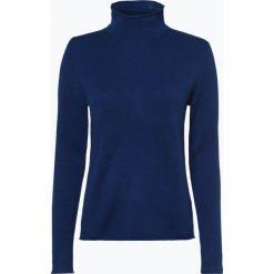 Marie Lund - Sweter damski z czystego kaszmiru, niebieski. Niebieskie swetry klasyczne damskie Marie Lund, l, z dzianiny. Za 499,95 zł.