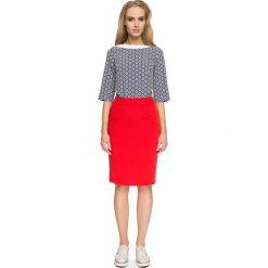 Spódniczki: Czerwona Ołówkowa Spódnica przed Kolano