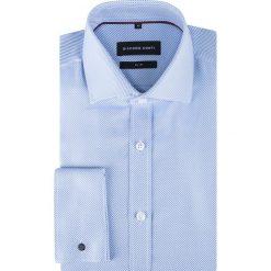 Koszula SIMONE KDWS000329. Niebieskie koszule męskie na spinki Giacomo Conti, m, z bawełny, z włoskim kołnierzykiem. Za 259,00 zł.