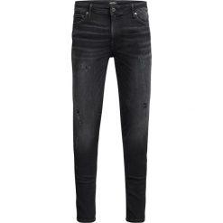 Jeansy skinny długość 73cm. Czarne jeansy męskie skinny marki Jack & Jones, l, z bawełny, z klasycznym kołnierzykiem, z długim rękawem. Za 366,24 zł.