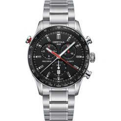 PROMOCJA ZEGAREK CERTINA DS 2 C024.618.11.051.01. Czarne zegarki męskie CERTINA, ze stali. W wyprzedaży za 3115,20 zł.