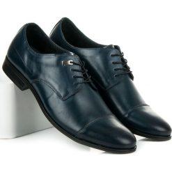 ELEGANCKIE PÓŁBUTY. Niebieskie buty wizytowe męskie LUCCA. Za 219,00 zł.
