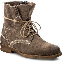 Botki LASOCKI - G322SC  Beżowy Ciemny. Brązowe buty zimowe damskie Lasocki, z materiału, na obcasie. W wyprzedaży za 100,00 zł.