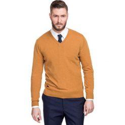 Sweter FABRIZIO SWYR000112. Białe swetry klasyczne męskie marki Giacomo Conti, na jesień, m, z materiału. Za 229,00 zł.