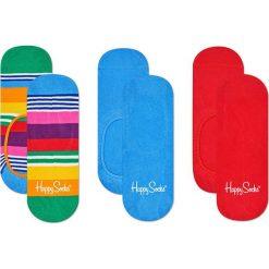 Happy Socks - Stopki Multi Stripe (3-pak). Czerwone skarpetki damskie Happy Socks, z bawełny. Za 69,90 zł.
