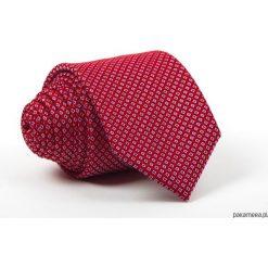 Krawat Męski K&D Elegancki Kolekcja Wiosna 2018. Czerwone krawaty męskie Pakamera, z materiału, eleganckie. Za 79,00 zł.