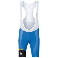 Odlo Spodnie rowerowe męskie Tech. Tights Short Suspenders Kamikaze Niebieski r. S (421872S). Niebieskie odzież rowerowa męska marki Odlo. Za 188,08 zł.