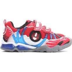 Czerwone Buty Sportowe Transform Yourself. Czerwone buciki niemowlęce chłopięce Born2be, ze skóry, z okrągłym noskiem, na obcasie, na rzepy. Za 59,99 zł.