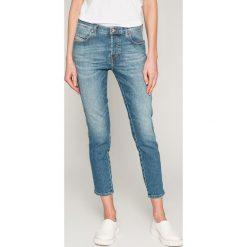 Diesel - Jeansy Babhila. Niebieskie jeansy damskie rurki Diesel, z bawełny. W wyprzedaży za 599,90 zł.