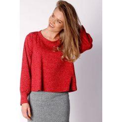 Bluzy damskie: Bluza w kolorze czerwonym