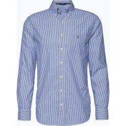 Gant - Koszula męska, niebieski. Niebieskie koszule męskie na spinki GANT, m, w paski, z bawełny. Za 379,95 zł.