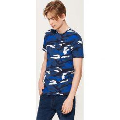 T-shirty męskie: T-shirt camo – Niebieski