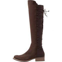 Anna Field Kozaki sznurowane dark brown. Brązowe buty zimowe damskie marki Anna Field, z materiału. W wyprzedaży za 136,95 zł.