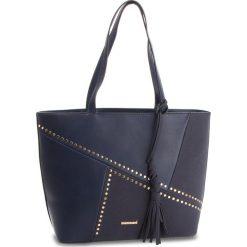 Torebka MONNARI - BAG4830-013 Navy. Brązowe torebki klasyczne damskie marki Monnari, w paski, z materiału, średnie. W wyprzedaży za 199,00 zł.