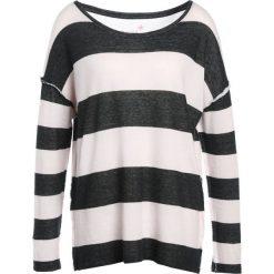 Swetry klasyczne damskie: Juvia CREW STRIPE Sweter anthracite/rose