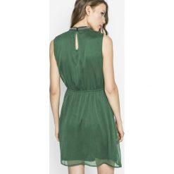 Only - Sukienka. Szare sukienki mini marki ONLY, s, z bawełny, z okrągłym kołnierzem. W wyprzedaży za 89,90 zł.